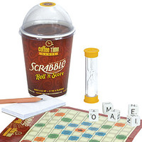 Coffee Time Roll 'N Score Scrabble Dice Game