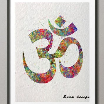 OM symbol wall art canvas