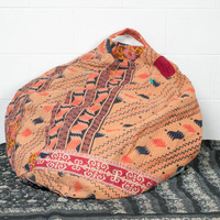 Vintage Kantha Bean Bag Chair by AnotherWorldTrading on Etsy