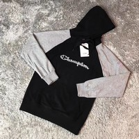 Champion Woman Men Fashion Embroidery Hoodie Top Sweater Pullover