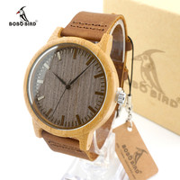 BOBO BIRD Quartz Leather Mens Watch