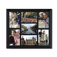 Decorative Black Wood Wall Hanging Collage Picture Photo Frame 7 Openings Vertical and Horizontal 4x6