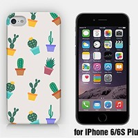 for iPhone 6/6S Plus - Cactus Pattern - Flower Pots - Cactus Pots