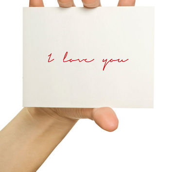 I love you Greeting Card by TheStationerySisters on Etsy
