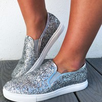 All That Glitters Sneakers: Silver