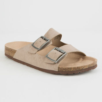 MADDEN GIRL Pleaase Taupe Womens Sandals