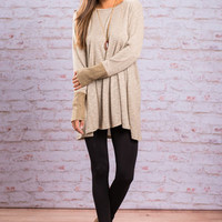 All Warmed Up Tunic, Latte