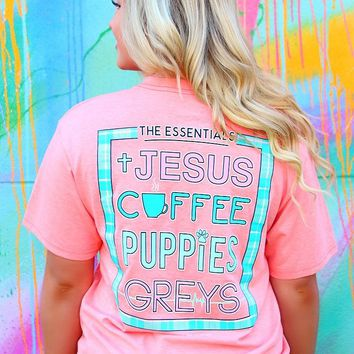 Jadelynn Brooke: The Essentials Short Sleeve Tee {H. Coral}