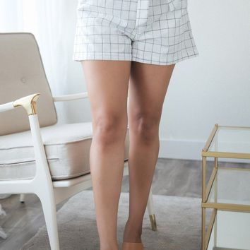 Lilah Ivory Plaid Shorts