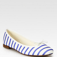 BB Striped Canvas Ballet Flats - Zoom - Saks Fifth Avenue Mobile