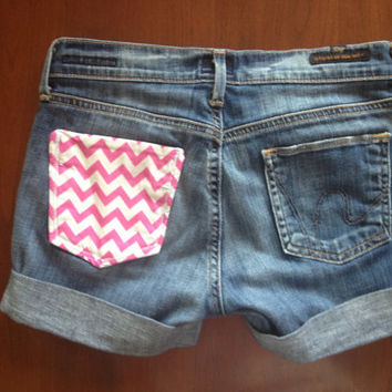 Chevron Citizens Of Humanity Custom Shorts by SweetlyDistressed