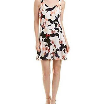 1.STATE Womens Wide Strap V-Neck Shift Dress