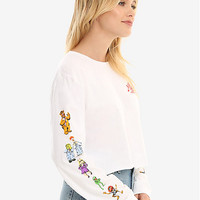The Muppet Show Cropped Long Sleeve Womens Tee