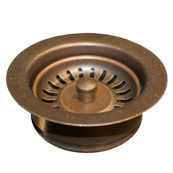 "NATIVE TRAILS DR340-WC 3.5"" Basket Strainer w/ Disposer Trim in Weathered Copper, NEW, OPEN BOX, box cold be damage"