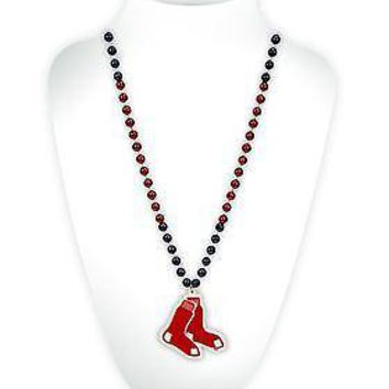 Boston Red Sox Beads with Logo Medallion MLB