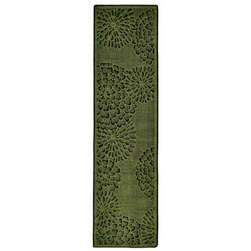 Liora Manne Scattered Green Flowers Indoor Rug (1'11 x 7'6) | Overstock.com Shopping - The Best Deals on Runner Rugs
