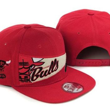 DCCKBE6 Chicago Bulls NBA 9FIFTY Cap Windy City Patch Red