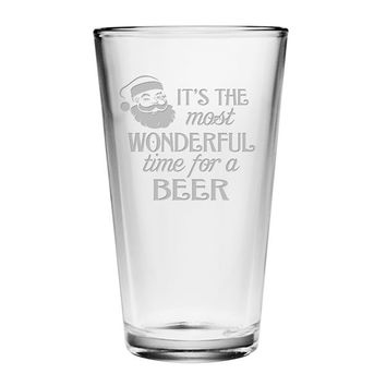 Most Wonderful Time Glasses - Set of 4