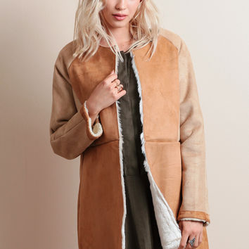 Claim To Fame Faux Suede Coat