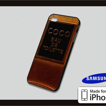 Chanel Paris Parfume Gold Case for iPhone 4/4s iPhone 5/5c and Samsung Galaxy S3/S4