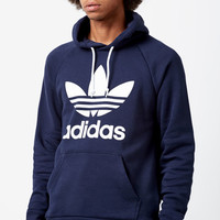 adidas Trefoil Navy Pullover Hoodie at PacSun.com
