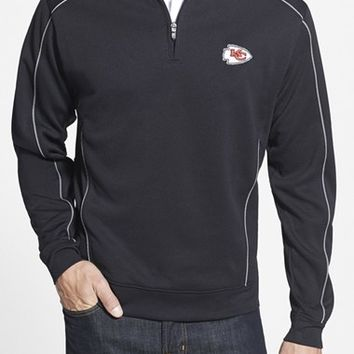 Men's Big & Tall Cutter & Buck 'Kansas City Chiefs - Edge' DryTec Moisture Wicking Half Zip Pullover