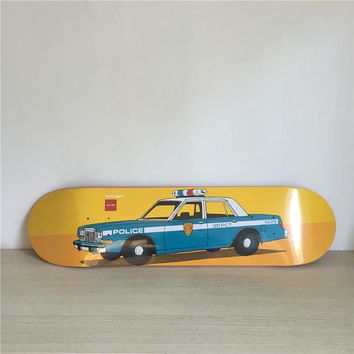 "Cops 8"" Canadian Maple Blue Skateboard Deck"