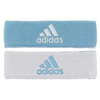 adidas Interval Reversible Headband, Argentina Blue/White / White/Argentina Blue, One Size Fits All