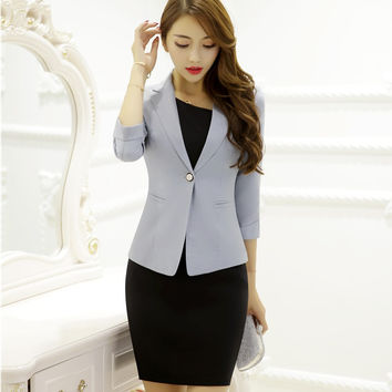 Blazer Women Business Suits Formal Office Suits Work with Dress and Jacket Sets Ladies Work Wear Office Uniform Styles