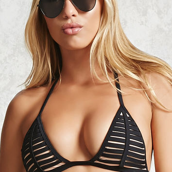 Ladder Cutout Bikini Top