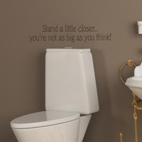 20x5 Funny Bathroom Toilet Stand a little by willowcreeksigns
