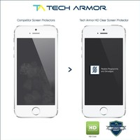 Tech Armor High Defintion Clear Screen Protector for iPhone 5/5c/5s (Pack of 3)