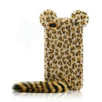 Leopard Tail iPhone 5s 5 creative case Cover Handmade
