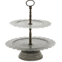 Timeless Metal 2 Tier Tray Stand