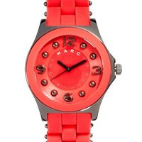 Marc By Marc Jacobs Coral And Gunmetal Bracelet Watch at asos.com