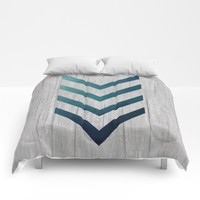 Blue Arrow Comforters by LouJah