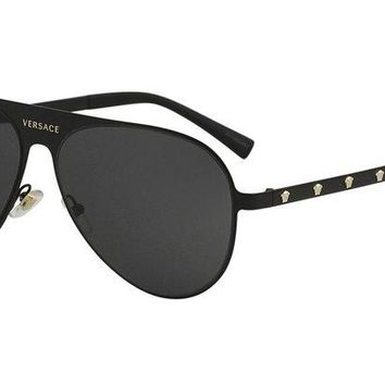 ONETOW Versace Women's Aviator Sunglasses