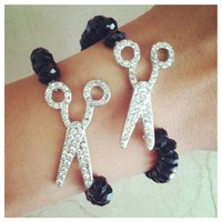 Glam Queen Scissors Bracelet- Tanya Kara Jewelry