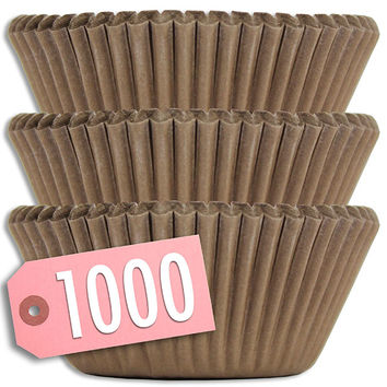 Solid Brown Baking Cups 1000 pk