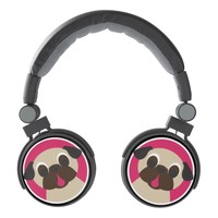 Cute Fawn Pug Headphones