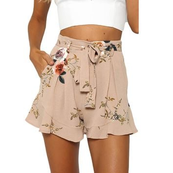 2017 Fashion Women Sexy Skirt Summer Print Short Pants