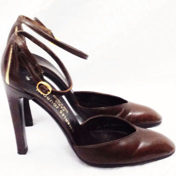 Vintage 80s CHARLES JOURDAN Paris Made in France Sexy Evening Cocktail Party Slingback Shoes High Heels Pumps 7.5