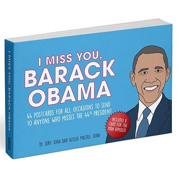 I Miss You, Barack Obama Postcard Book