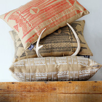 Going Hunting Pillow Cover- Red and Cornstalk