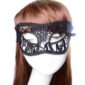 ESBONHS 3PC Festive Supplies Sexy Mask Black Fancy Dress Lace Mask Masquerade Halloween Mask Mesh Floral Costume Female Masks Party