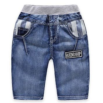 Hot Shorts 2018 Summer Children'S Clothes Boys  Causal Blue Color Baby Boy Jean  For Boys Big Kids Summer Denim AT_43_3