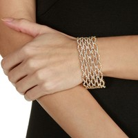 Sale-gold Lattice Rhinestone Bracelet