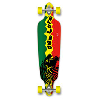 Yocaher Punked Drop Through Rasta 2 Longboard Complete