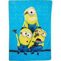 "46"" x 60"" Despicable Me 'Minions' Plush Throw - Walmart.com"