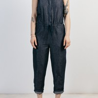 Marta Denim Women's Linen Jumpsuit